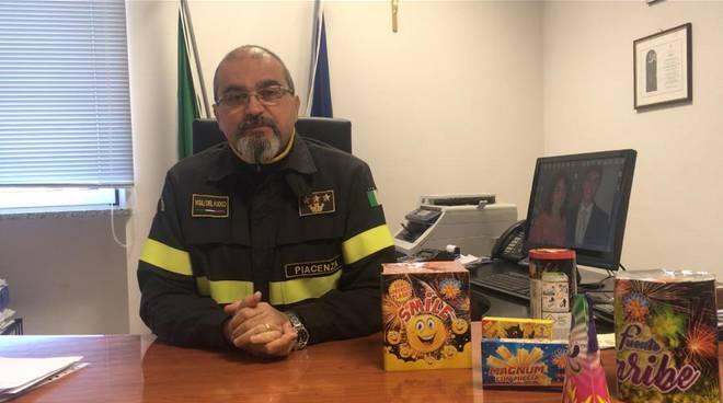 Il comandante dei vigili del fuoco Francesco Martino