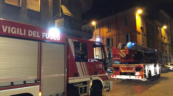incendio in via Pozzo