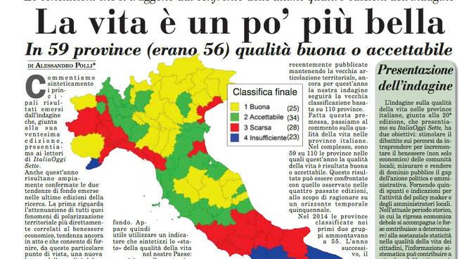 L'indagine di Italia Oggi