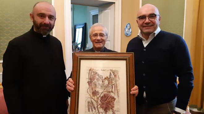 La consegna del dipinto al vescovo Ambrosio