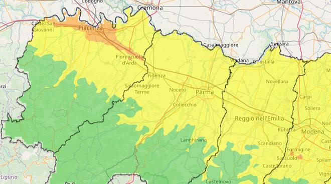 La mappa dell'aria in regione