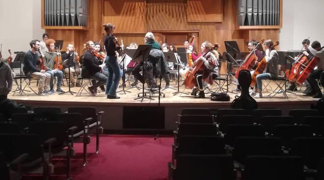 Le prove dell'orchestra del Conservatorio