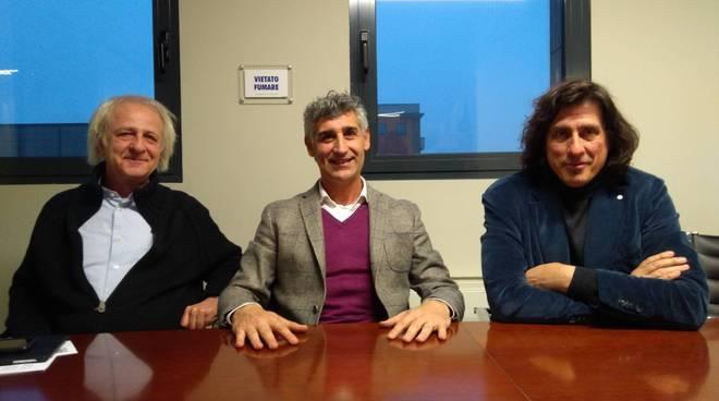 Nella foto, da sinistra: Merenda, Chiappa e Castelli