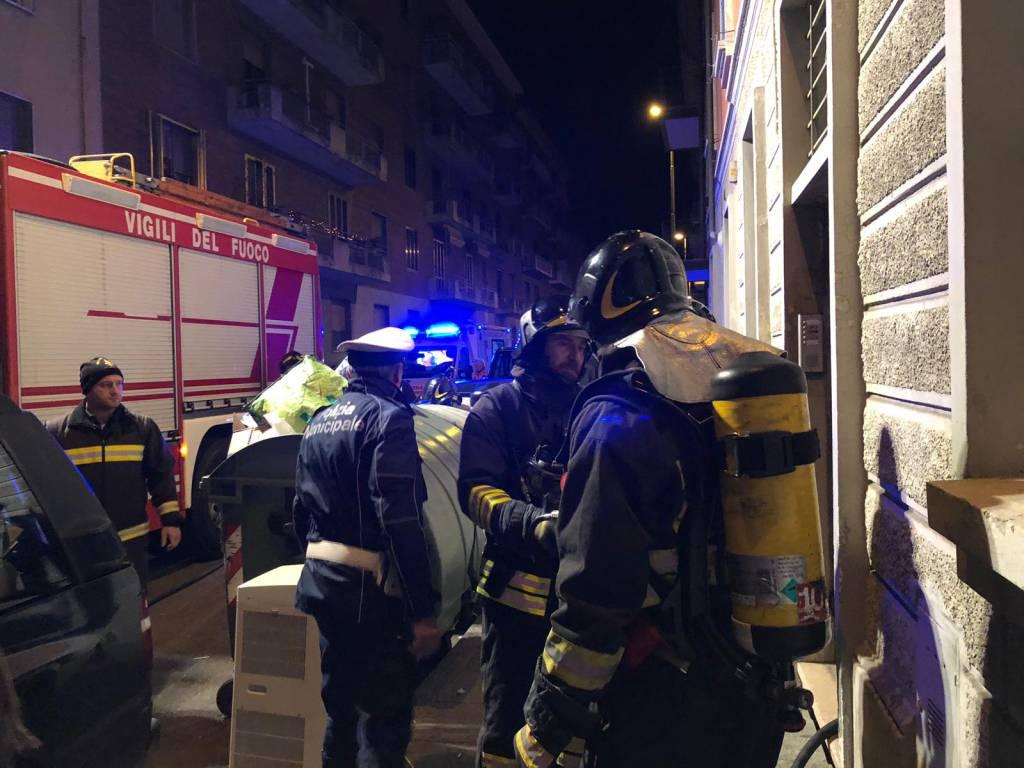 Vigili del fuoco in via Pozzo