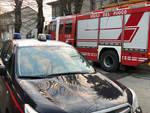Carabinieri e vigili del fuoco a San Nicolò