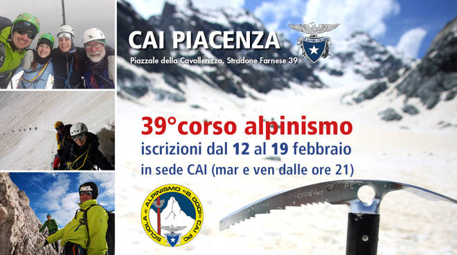 39° Corso di Alpinismo - Apertura Iscrizioni