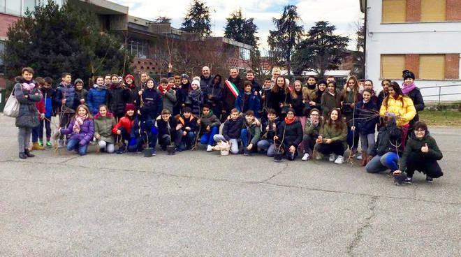 Gli studenti dell'Istituto Comprensivo di Cadeo