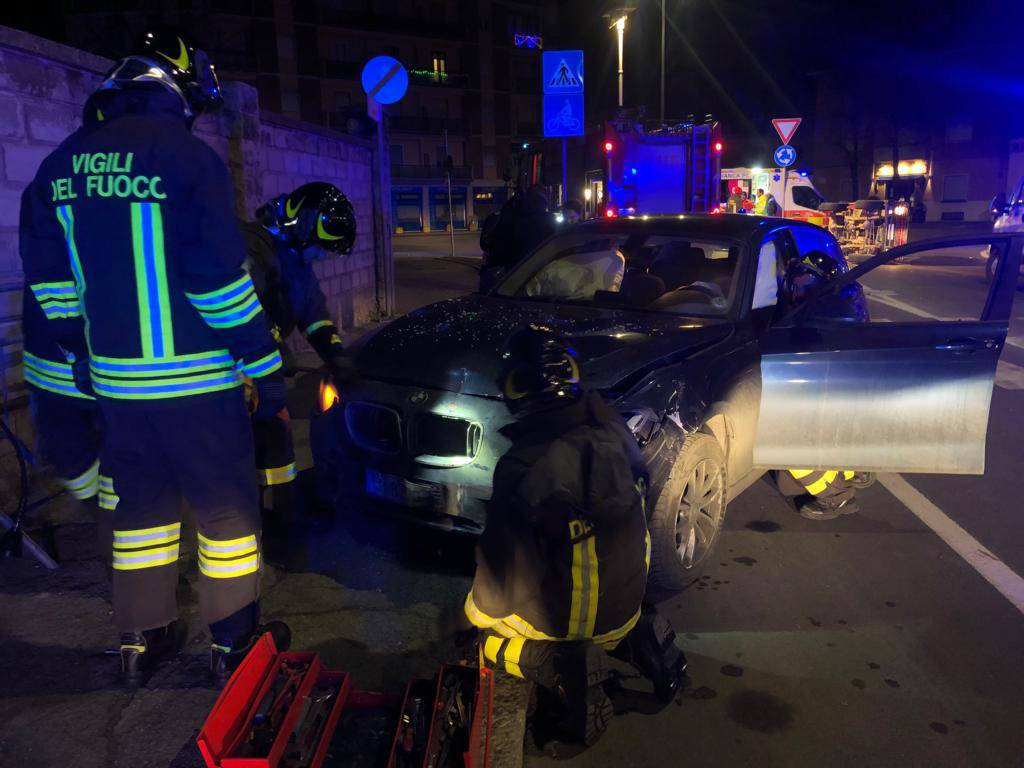 incidente notte via Calciati