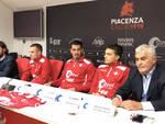 La presentazione dei nuovi acquisti del Piacenza Calcio