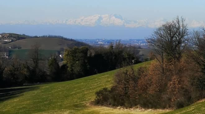 Panorama colline piacentine