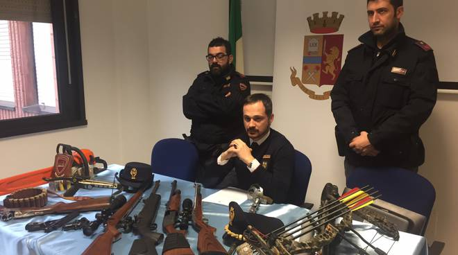 armi sequestrate polizia
