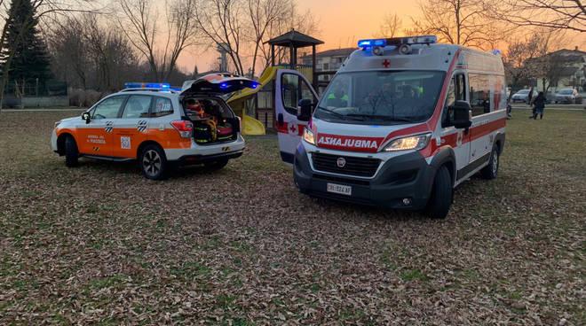 I soccorsi alla bambina ferita a Gossolengo