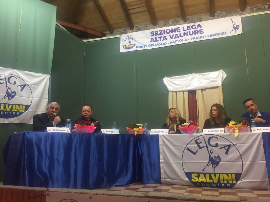 Il ministro Stefani a Bettola con la Lega