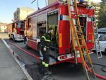 Incendio in via Marzabotto