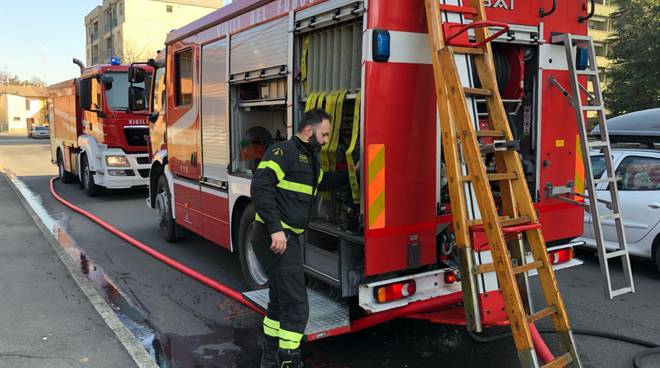 Incendio in via Marzabotto