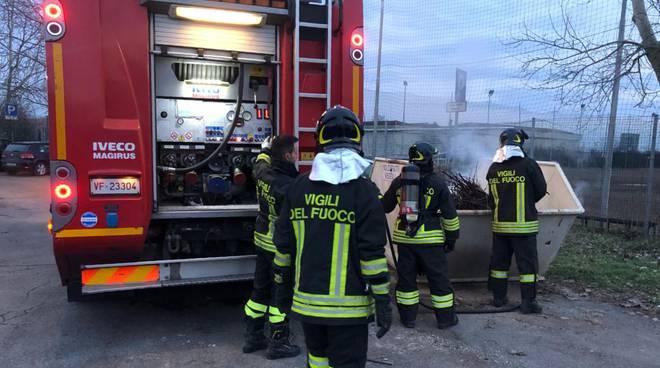 Intervento dei vigili del fuoco
