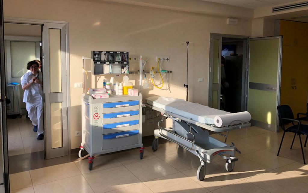 L'inaugurazione del nuovo pronto soccorso pediatrico