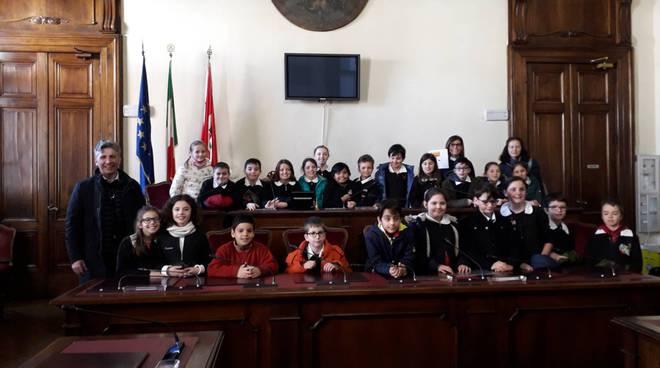 4 C della scuola Giordani in municipio