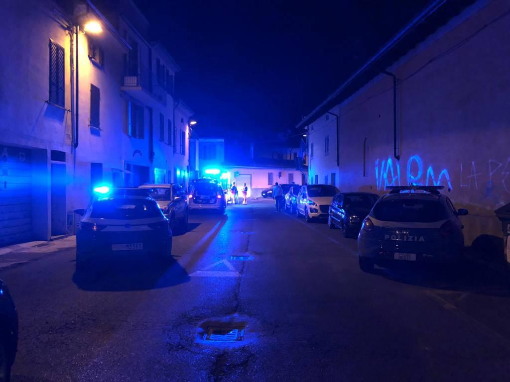 Aggressione in via Genocchi polizia