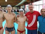 Alcuni dei nuotatori della Vittorino che partecipano alla Collegiale in Spagna