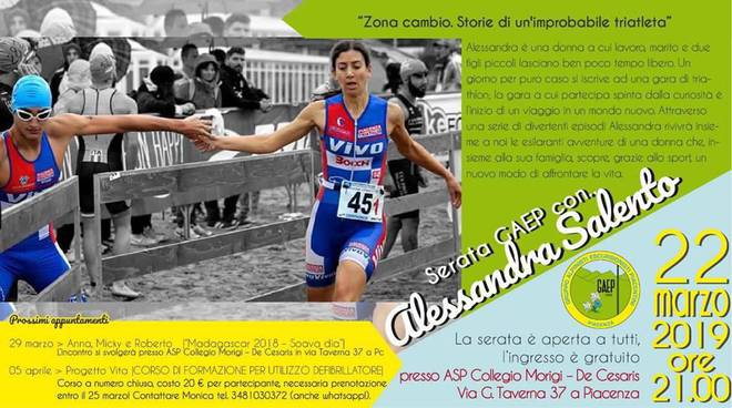 """Presentazione del libro \""""Zona Cambio: Storie di un\'improbabile triatleta\"""" di Alessandra Salento"""