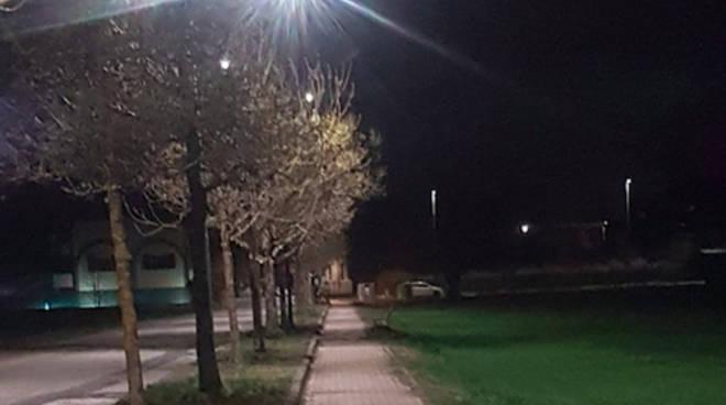 I nuovi impianti di illuminazione alla Veggioletta e Pittolo