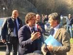 Il Ministro Toninelli alla diga del Molato
