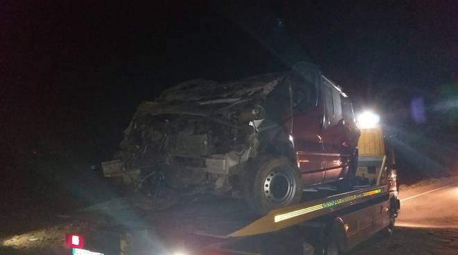 incidente Settima capriolo furgone