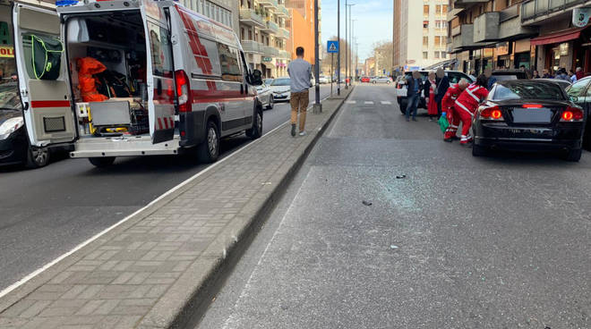 L'incidente in via Genova