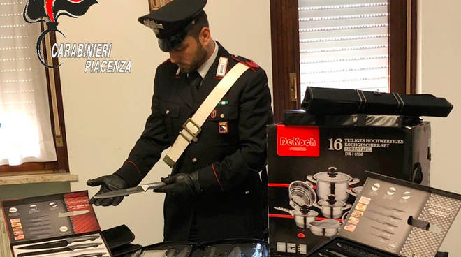 La merce sequestrata dai carabinieri
