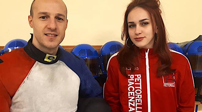 Nella foto Elena Perna con Francesco Monaco