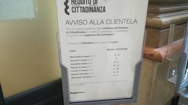 avviso alla clientela reddito di cittadinanza