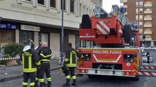 vigili del fuoco per calcinacci caduti Cheope