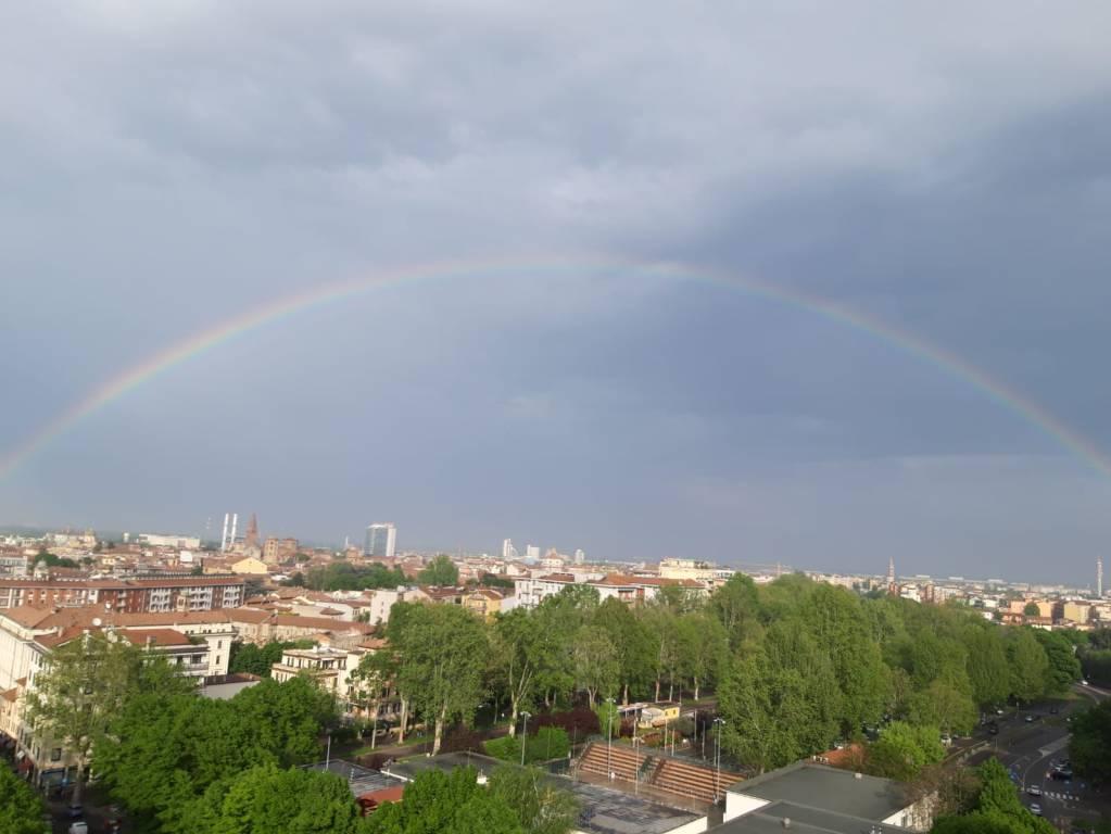 Arcobaleno a Piacenza