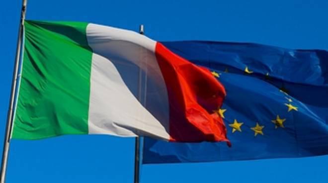 Bandiere Italia e Europa