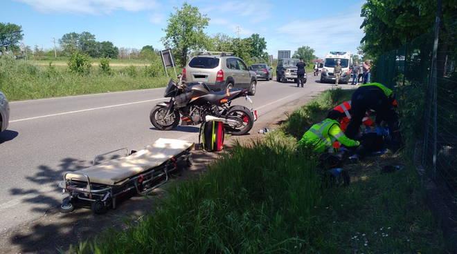 incidente moto Borgonovo