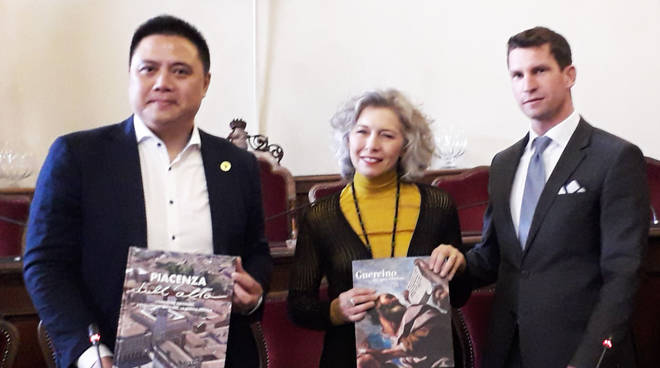La delegazione cinese in Municipio