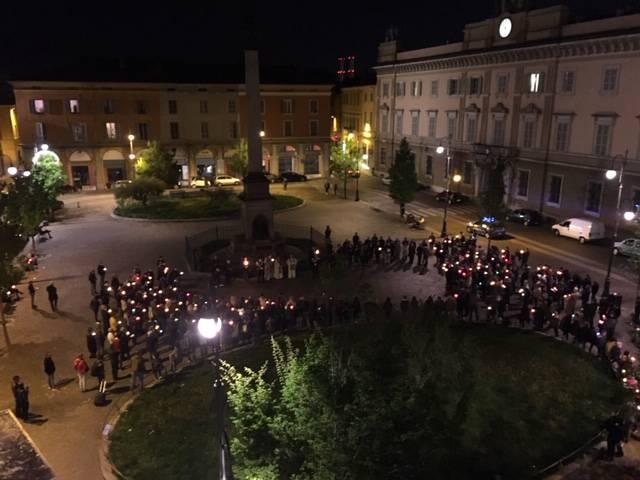 La via Crucis in centro a Piacenza