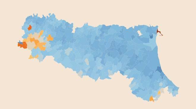 mappa occupazione emilia romangna