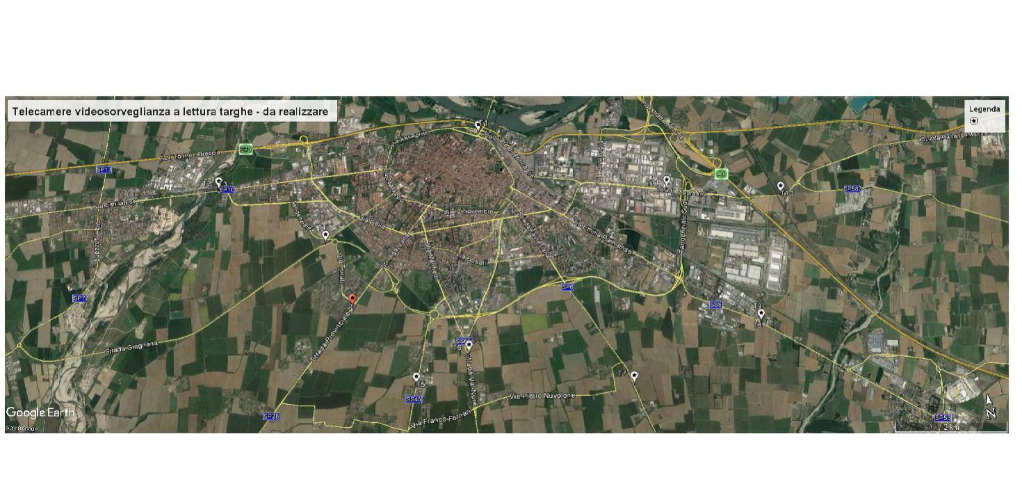 mappa telecamere videosorveglianza