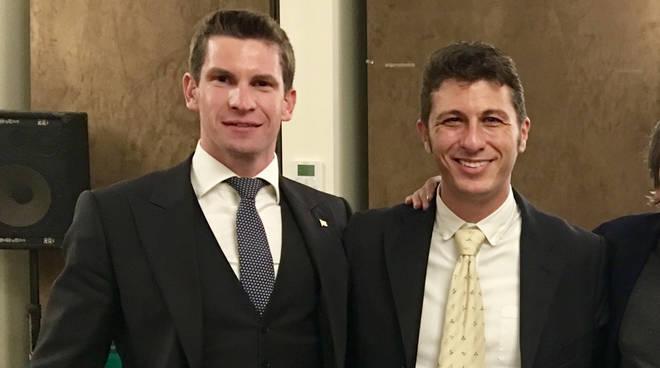 Papa, a destra, con Papamarenghi