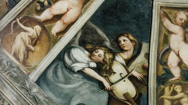 particolare cappella dei magi in Santa Maria di  Campagna