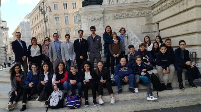 i giovani di Gragnano in visita al Parlamento