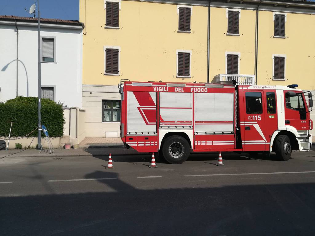 fuga di gas in via veneto