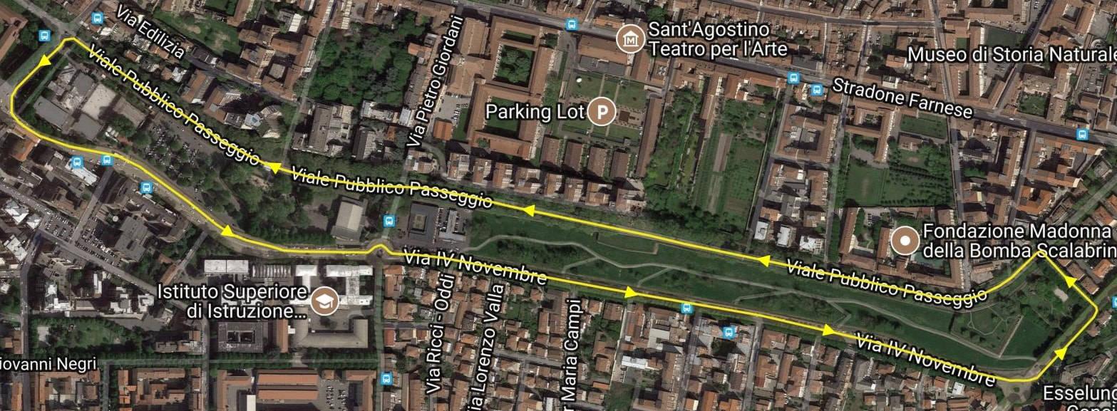 placentia roller marathon percorso