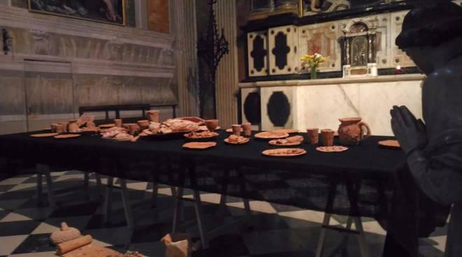 Ultima cena in terracotta a San Francesco