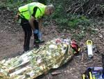 ciclista caduto nel bosco di croara