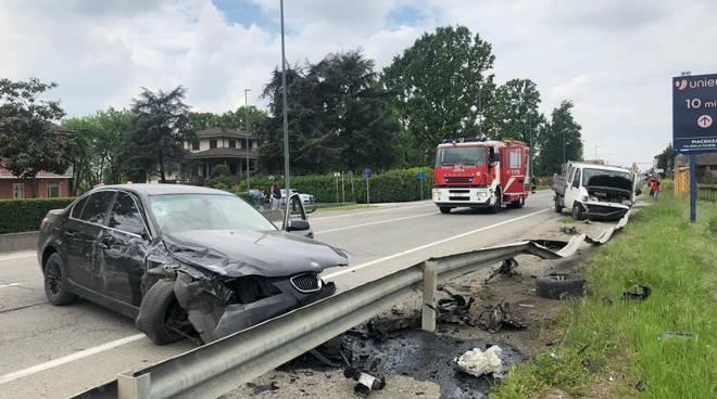incidente stradale a Roncaglia