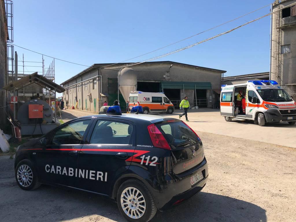incidente sul lavoro a Chiavenna Landi