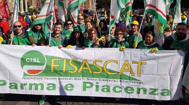 La manifestazione a Roma dei sindacati
